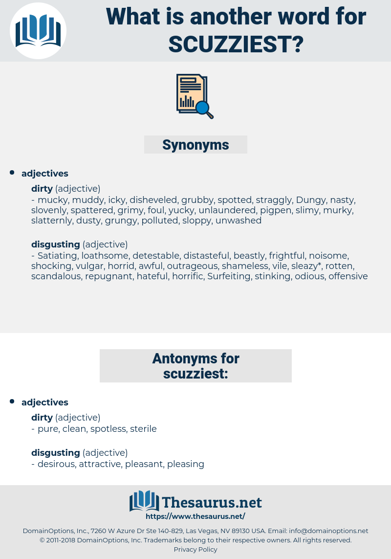 scuzziest, synonym scuzziest, another word for scuzziest, words like scuzziest, thesaurus scuzziest