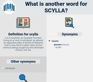scylla, synonym scylla, another word for scylla, words like scylla, thesaurus scylla