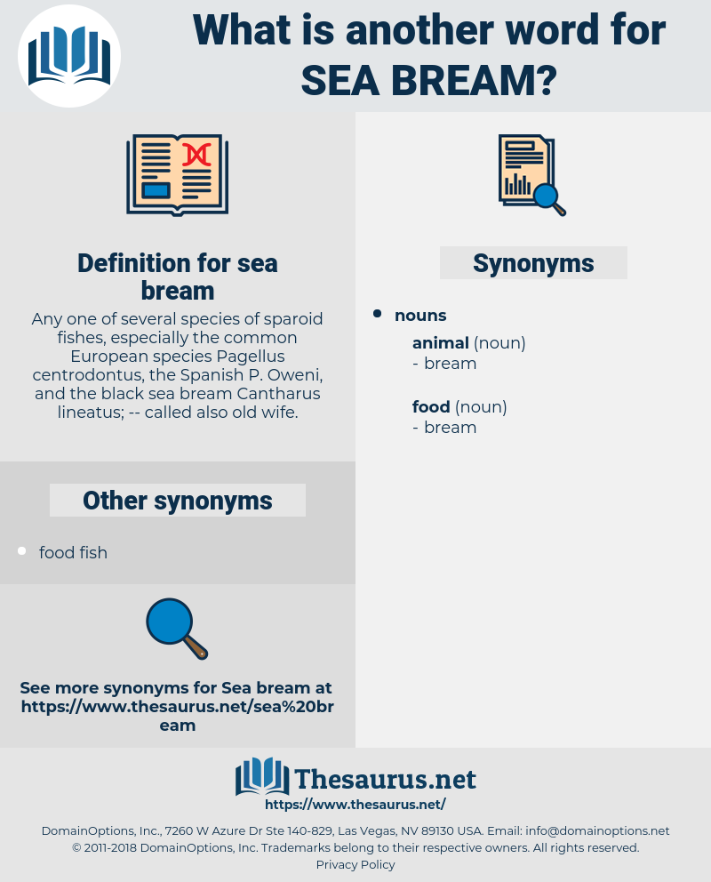 sea bream, synonym sea bream, another word for sea bream, words like sea bream, thesaurus sea bream