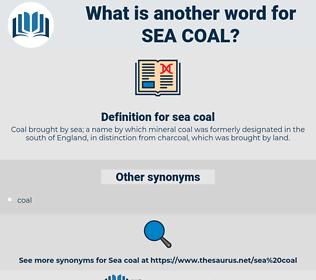 sea coal, synonym sea coal, another word for sea coal, words like sea coal, thesaurus sea coal