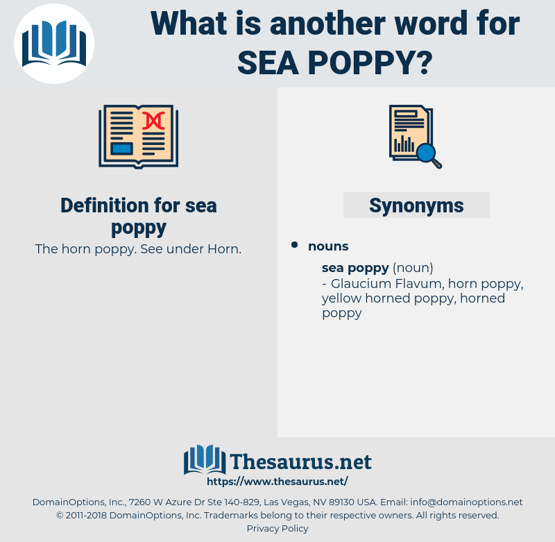 sea poppy, synonym sea poppy, another word for sea poppy, words like sea poppy, thesaurus sea poppy