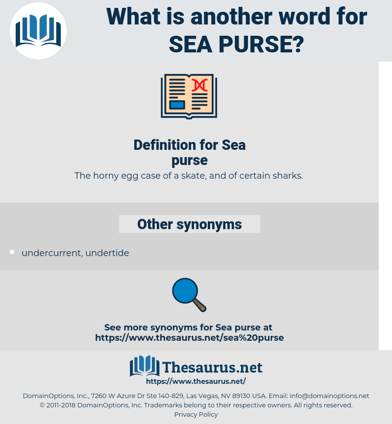 Sea purse, synonym Sea purse, another word for Sea purse, words like Sea purse, thesaurus Sea purse