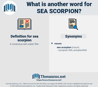 sea scorpion, synonym sea scorpion, another word for sea scorpion, words like sea scorpion, thesaurus sea scorpion