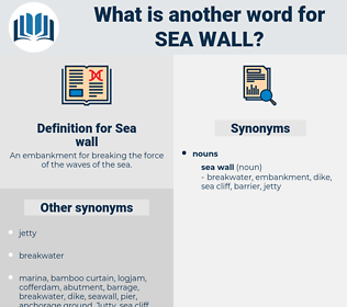 Sea wall, synonym Sea wall, another word for Sea wall, words like Sea wall, thesaurus Sea wall