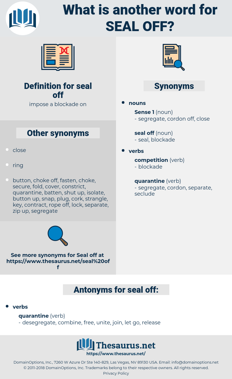 seal off, synonym seal off, another word for seal off, words like seal off, thesaurus seal off