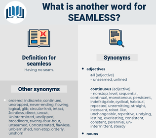 seamless, synonym seamless, another word for seamless, words like seamless, thesaurus seamless