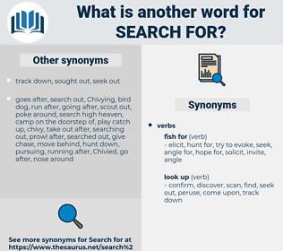 search for, synonym search for, another word for search for, words like search for, thesaurus search for