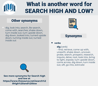 search high and low, synonym search high and low, another word for search high and low, words like search high and low, thesaurus search high and low