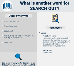search out, synonym search out, another word for search out, words like search out, thesaurus search out