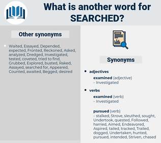 Searched, synonym Searched, another word for Searched, words like Searched, thesaurus Searched