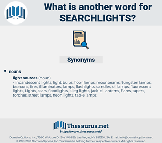 searchlights, synonym searchlights, another word for searchlights, words like searchlights, thesaurus searchlights