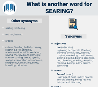 Searing, synonym Searing, another word for Searing, words like Searing, thesaurus Searing