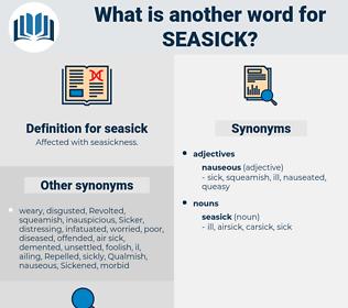 seasick, synonym seasick, another word for seasick, words like seasick, thesaurus seasick