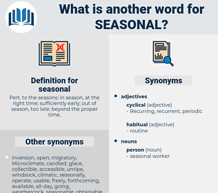 seasonal, synonym seasonal, another word for seasonal, words like seasonal, thesaurus seasonal