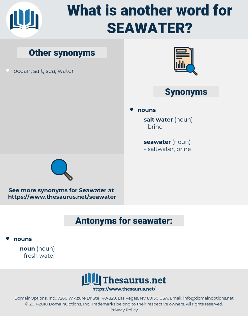 seawater, synonym seawater, another word for seawater, words like seawater, thesaurus seawater