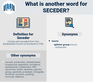Seceder, synonym Seceder, another word for Seceder, words like Seceder, thesaurus Seceder