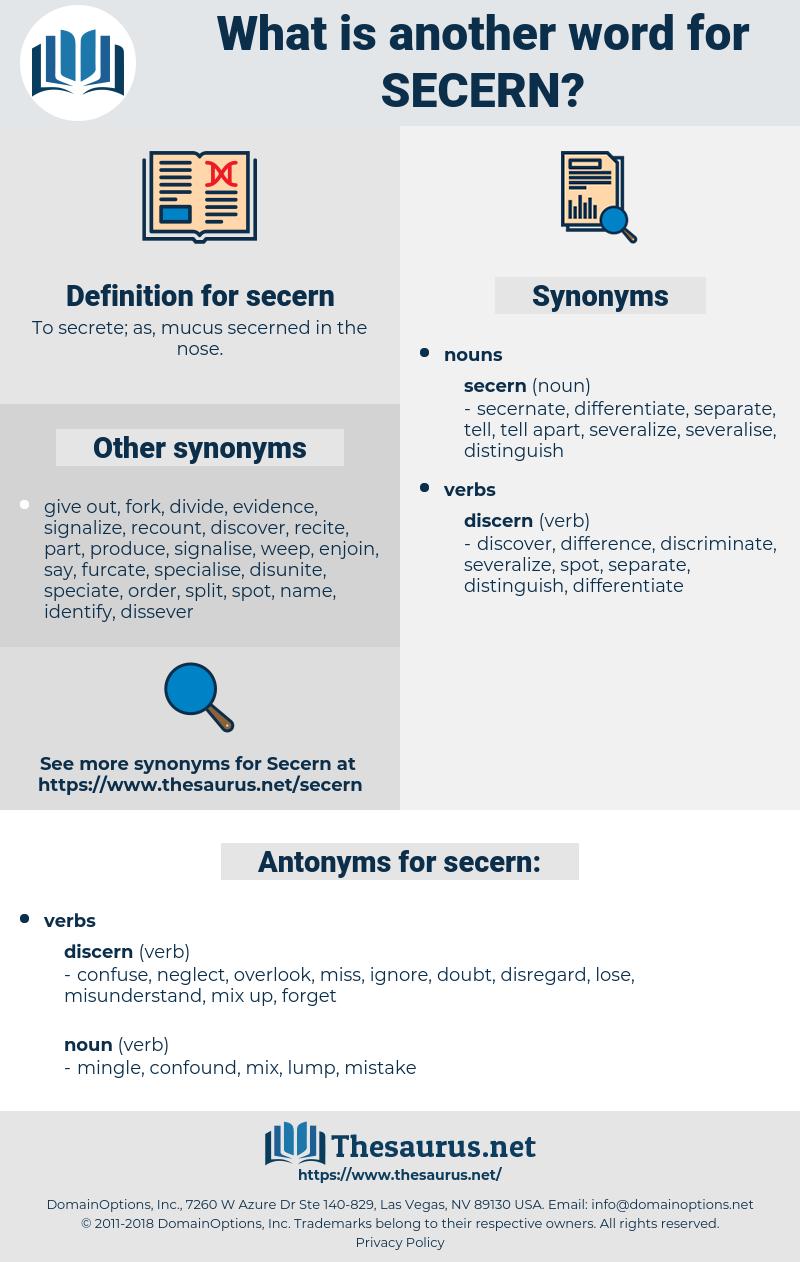 secern, synonym secern, another word for secern, words like secern, thesaurus secern