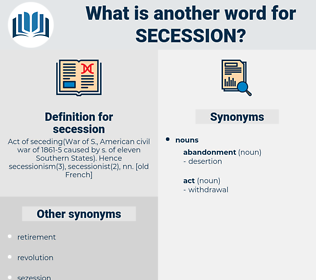 secession, synonym secession, another word for secession, words like secession, thesaurus secession