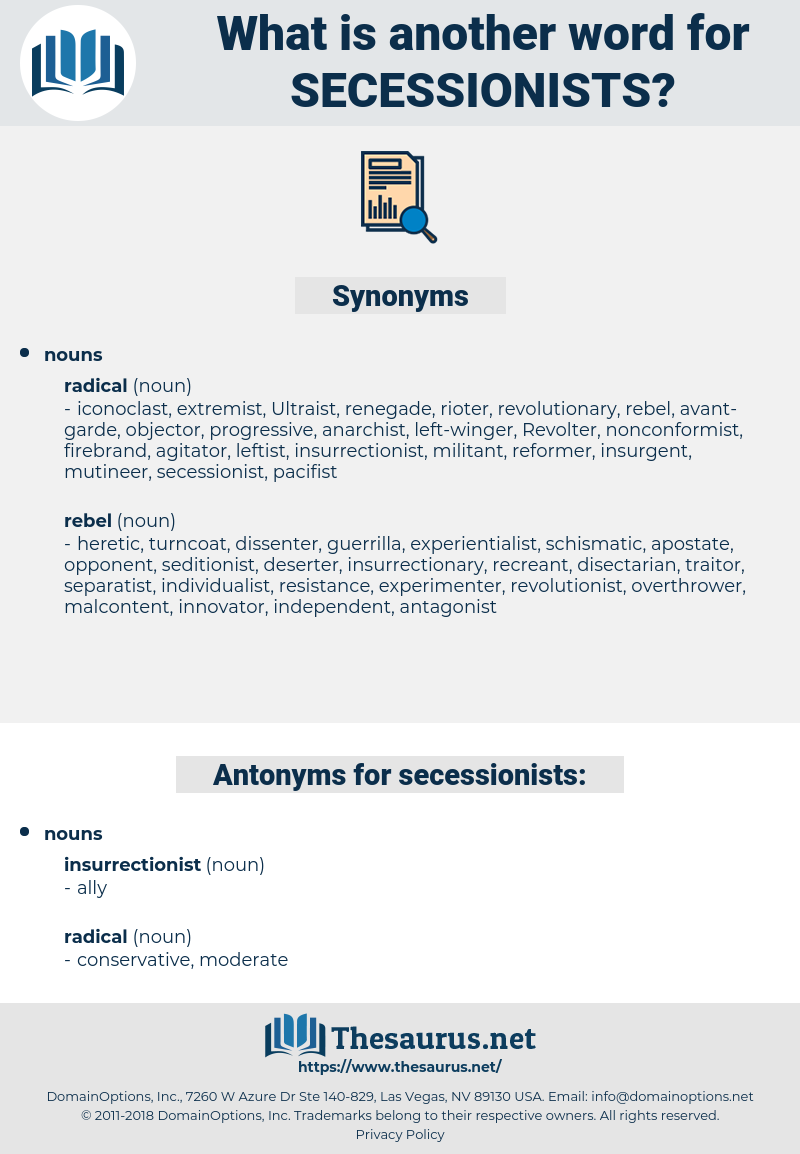 secessionists, synonym secessionists, another word for secessionists, words like secessionists, thesaurus secessionists