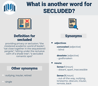 secluded, synonym secluded, another word for secluded, words like secluded, thesaurus secluded