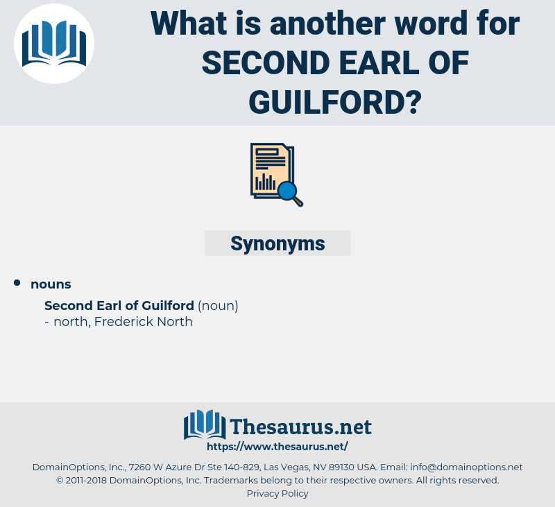 Second Earl Of guilford, synonym Second Earl Of guilford, another word for Second Earl Of guilford, words like Second Earl Of guilford, thesaurus Second Earl Of guilford