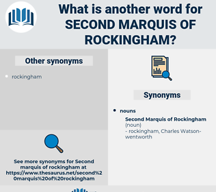 Second Marquis Of rockingham, synonym Second Marquis Of rockingham, another word for Second Marquis Of rockingham, words like Second Marquis Of rockingham, thesaurus Second Marquis Of rockingham