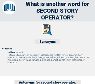 second story operator, synonym second story operator, another word for second story operator, words like second story operator, thesaurus second story operator