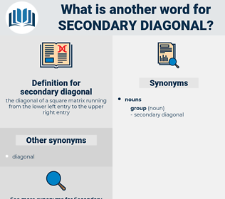 secondary diagonal, synonym secondary diagonal, another word for secondary diagonal, words like secondary diagonal, thesaurus secondary diagonal