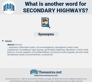 secondary highways, synonym secondary highways, another word for secondary highways, words like secondary highways, thesaurus secondary highways