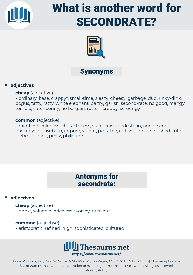 secondrate, synonym secondrate, another word for secondrate, words like secondrate, thesaurus secondrate