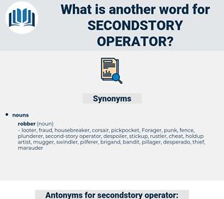 secondstory operator, synonym secondstory operator, another word for secondstory operator, words like secondstory operator, thesaurus secondstory operator