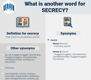 secrecy, synonym secrecy, another word for secrecy, words like secrecy, thesaurus secrecy