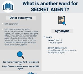 secret agent, synonym secret agent, another word for secret agent, words like secret agent, thesaurus secret agent