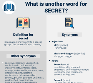 secret, synonym secret, another word for secret, words like secret, thesaurus secret