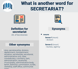 secretariat, synonym secretariat, another word for secretariat, words like secretariat, thesaurus secretariat