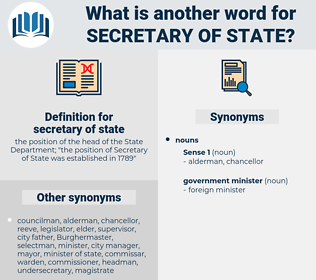 secretary of state, synonym secretary of state, another word for secretary of state, words like secretary of state, thesaurus secretary of state