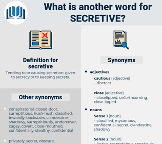 secretive, synonym secretive, another word for secretive, words like secretive, thesaurus secretive