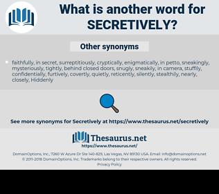 secretively, synonym secretively, another word for secretively, words like secretively, thesaurus secretively