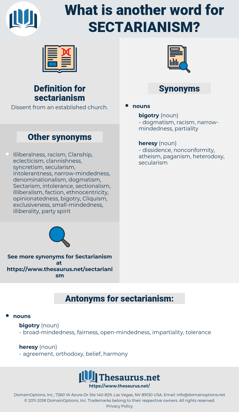 sectarianism, synonym sectarianism, another word for sectarianism, words like sectarianism, thesaurus sectarianism
