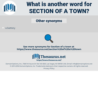 section of a town, synonym section of a town, another word for section of a town, words like section of a town, thesaurus section of a town
