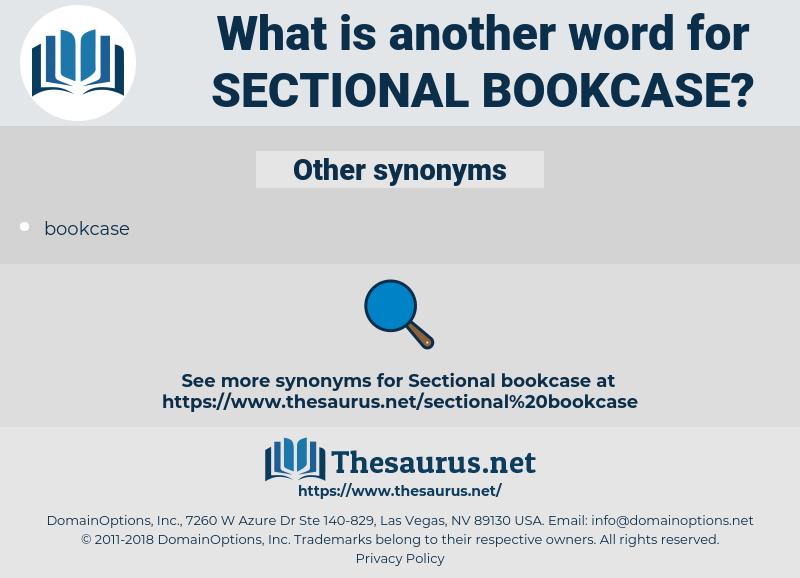 sectional bookcase, synonym sectional bookcase, another word for sectional bookcase, words like sectional bookcase, thesaurus sectional bookcase