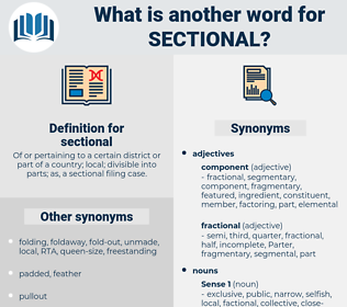 sectional, synonym sectional, another word for sectional, words like sectional, thesaurus sectional