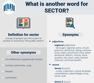 sector, synonym sector, another word for sector, words like sector, thesaurus sector