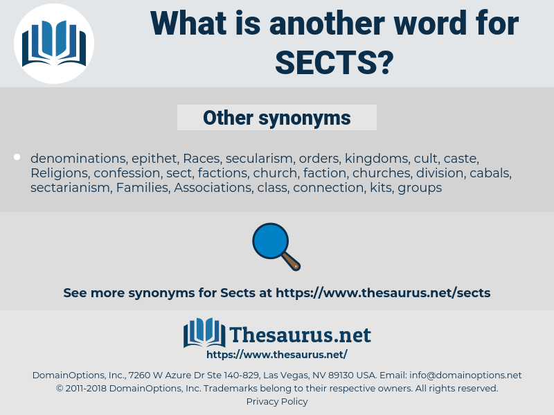 sects, synonym sects, another word for sects, words like sects, thesaurus sects