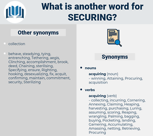 Securing, synonym Securing, another word for Securing, words like Securing, thesaurus Securing