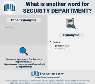 security department, synonym security department, another word for security department, words like security department, thesaurus security department