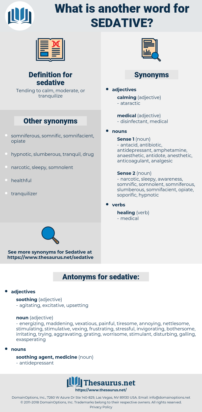 sedative, synonym sedative, another word for sedative, words like sedative, thesaurus sedative