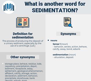sedimentation, synonym sedimentation, another word for sedimentation, words like sedimentation, thesaurus sedimentation
