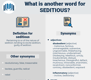 seditious, synonym seditious, another word for seditious, words like seditious, thesaurus seditious