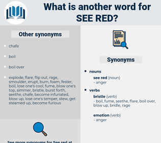 see red, synonym see red, another word for see red, words like see red, thesaurus see red